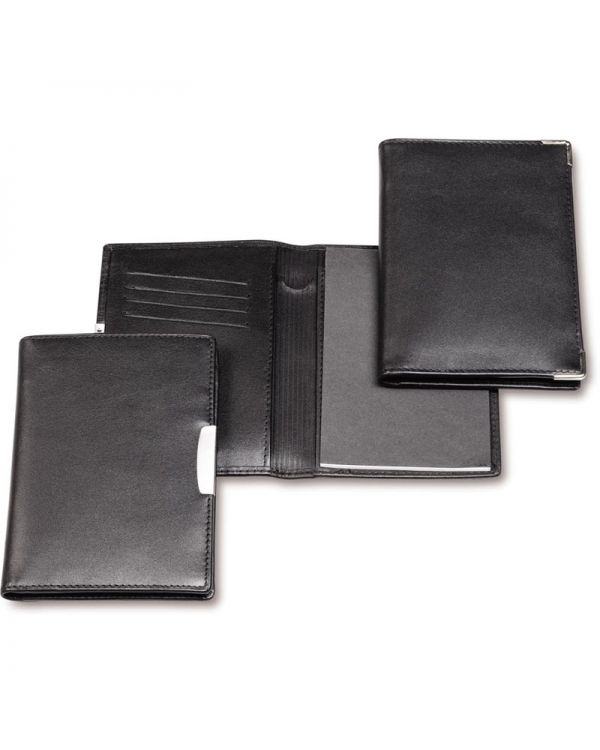 Executive Nappa Leather Notepad Jotter with Pen