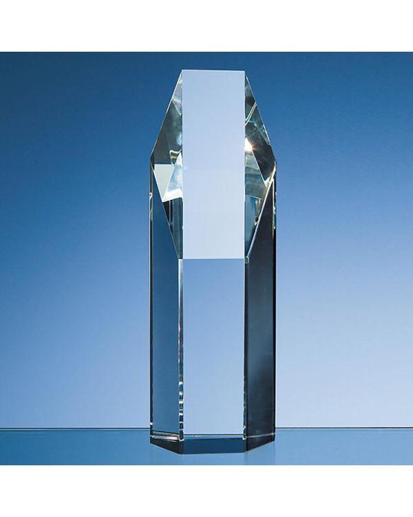 19cm Optical Crystal Hexagon Award