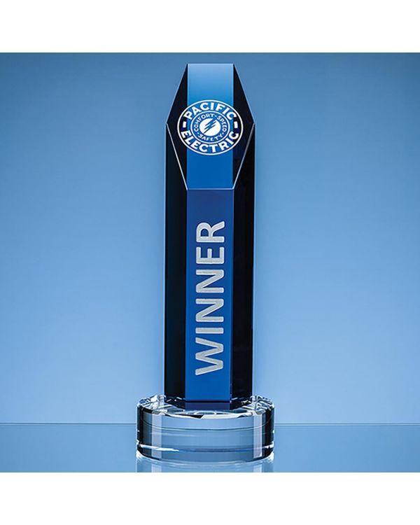 25.5cm Optical Crystal Hexagon Award