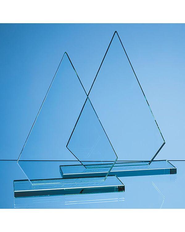 26.5cm x 18.5cm x 12mm Jade Glass Peak Award