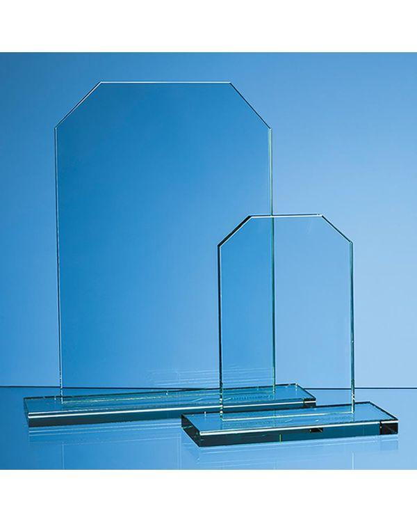 15cm x 10cm x 12mm Jade Glass Honour Award