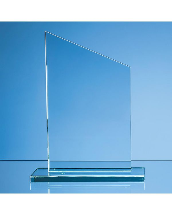 20.5cm x 12.5cm x 12mm Jade Glass Slope Award