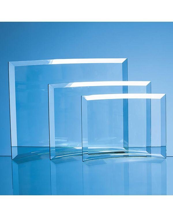 17.5cm x 23.5cm x 1cm Jade Glass Bevelled Crescent