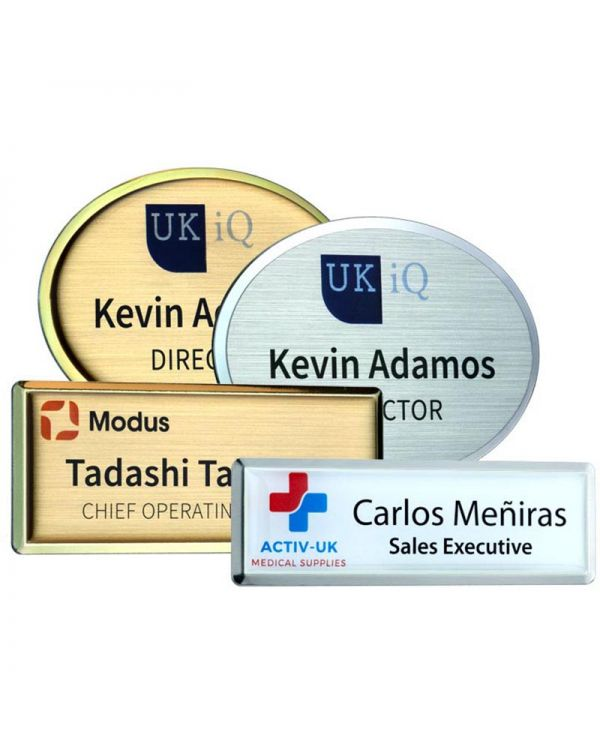 Excel Framed Personalised Undomed Name Badge