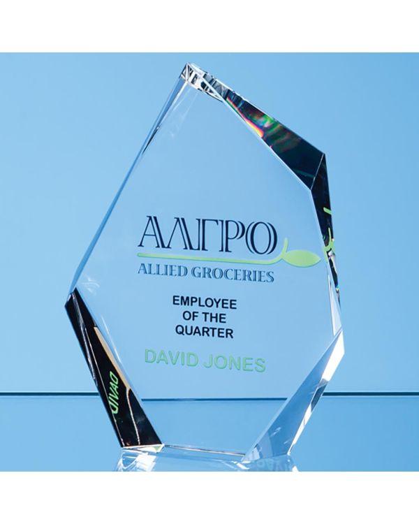 22.5cm Optical Crystal Facetted Ice Peak Award