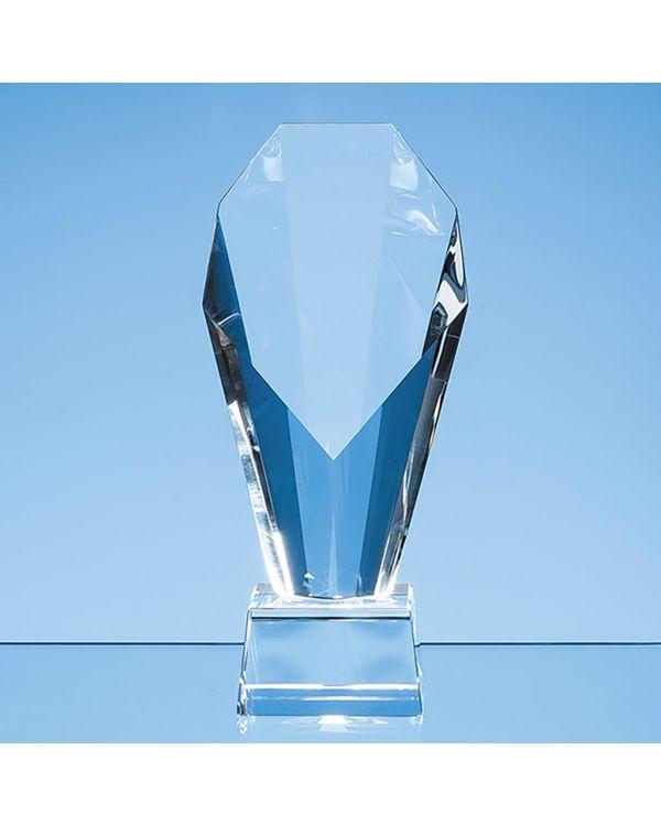 21.5cm Optical Crystal Mounted Diamond Award