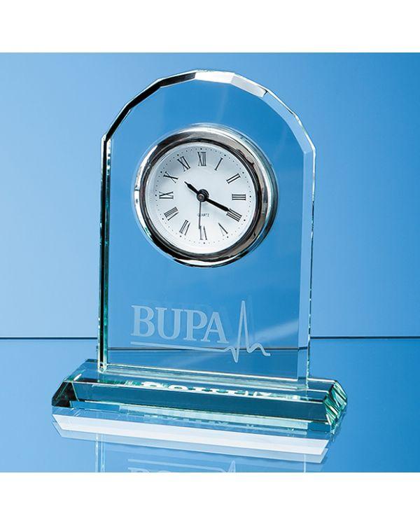 15cm Jade Glass Arch Clock