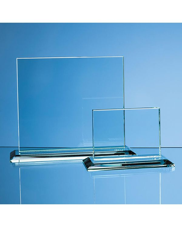 9cm x 12cm x 12mm Jade Glass Horizontal Rectangle Award