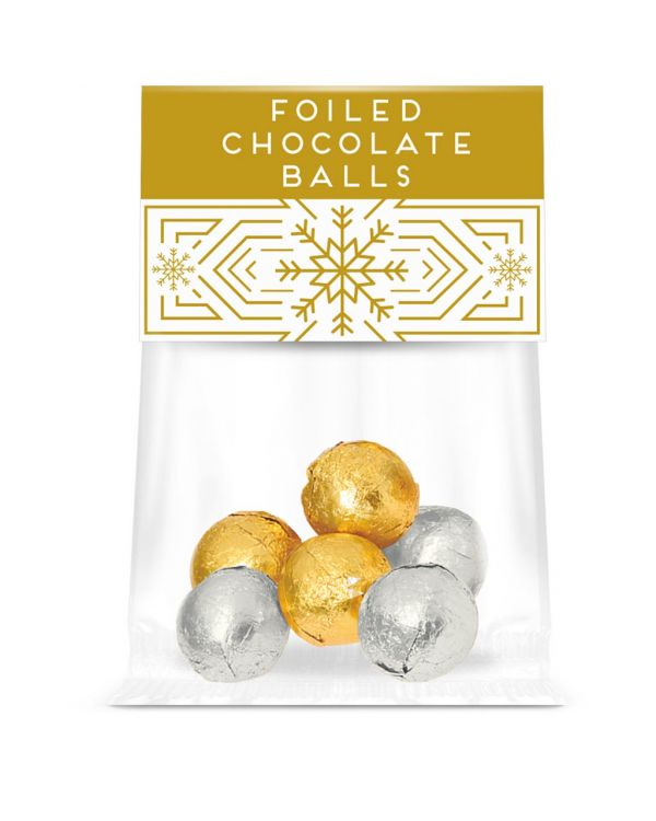 Eco Info Card - Foiled Chocolate Balls