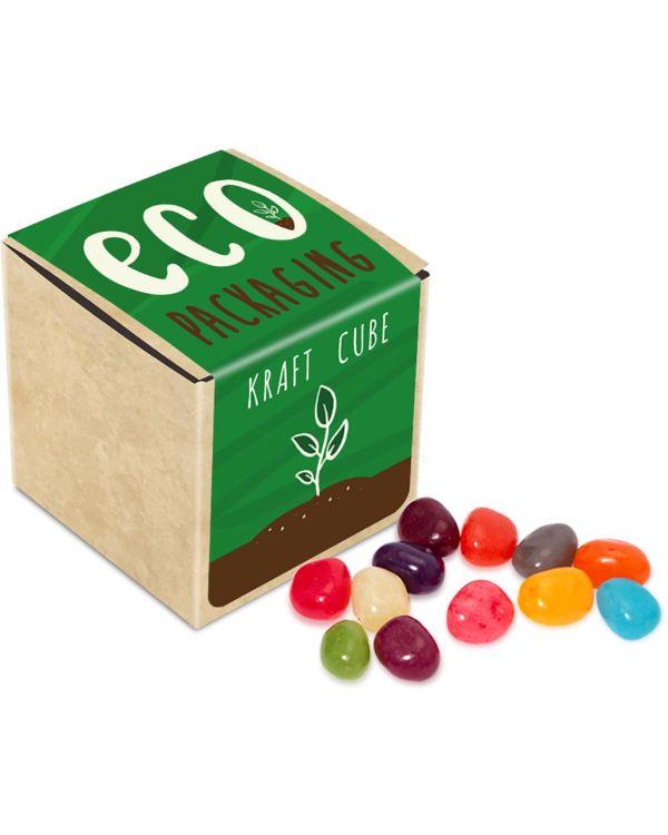 Eco Range - Eco Kraft Cube - The Jelly Bean Factory - 50g