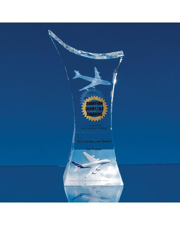 18.5cm Optical Crystal Pointed Slope Award