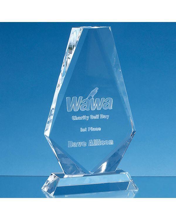 17.5cm Optical Crystal Cropped Iceberg Award