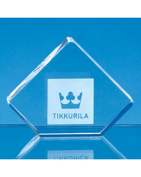 8.5cm Optical Crystal Stand Up Diamond Paperweight