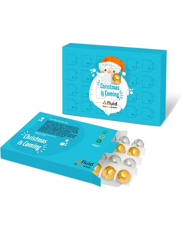 Eco Advent Calendars - A5 Calendar - Foiled Chocolate Balls