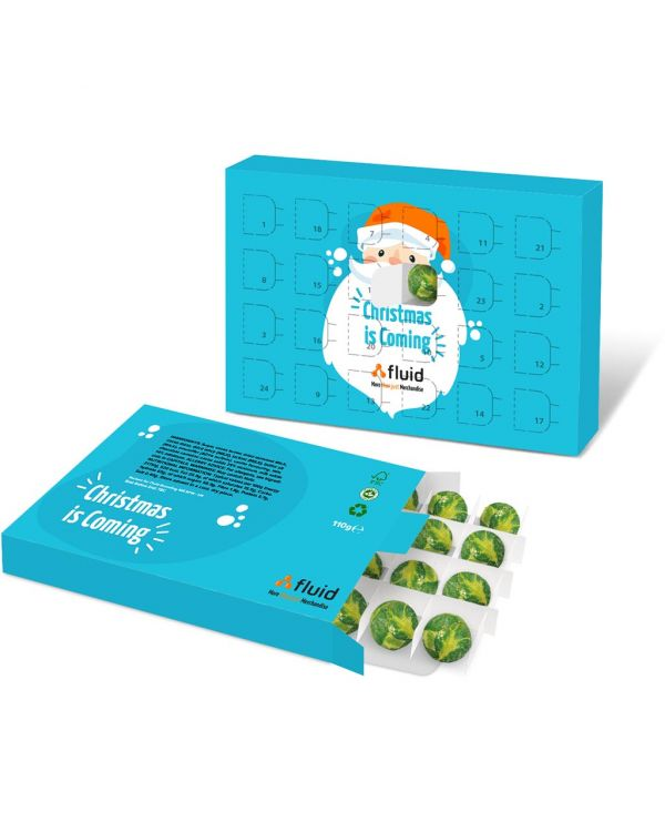 Eco Advent Calendars - A5 Calendar - Chocolate Sprouts