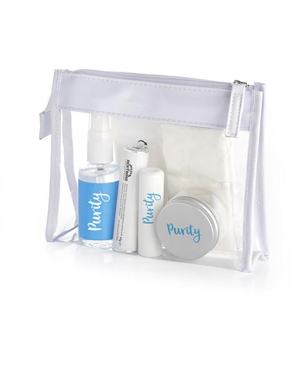 Wellness Set In A Clear PVC White Trim Bag