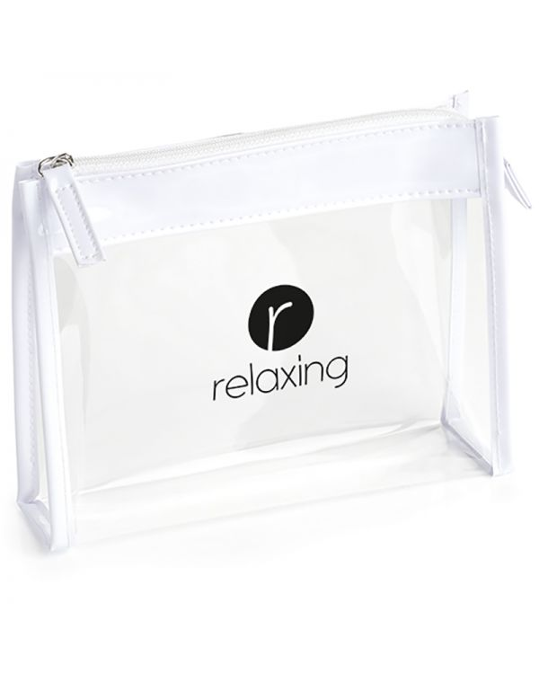 Clear PVC Bag With White Trim And Zipper