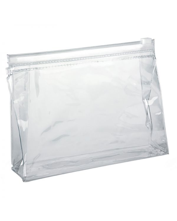 Clear Slide Zipper PVC Taller Bag