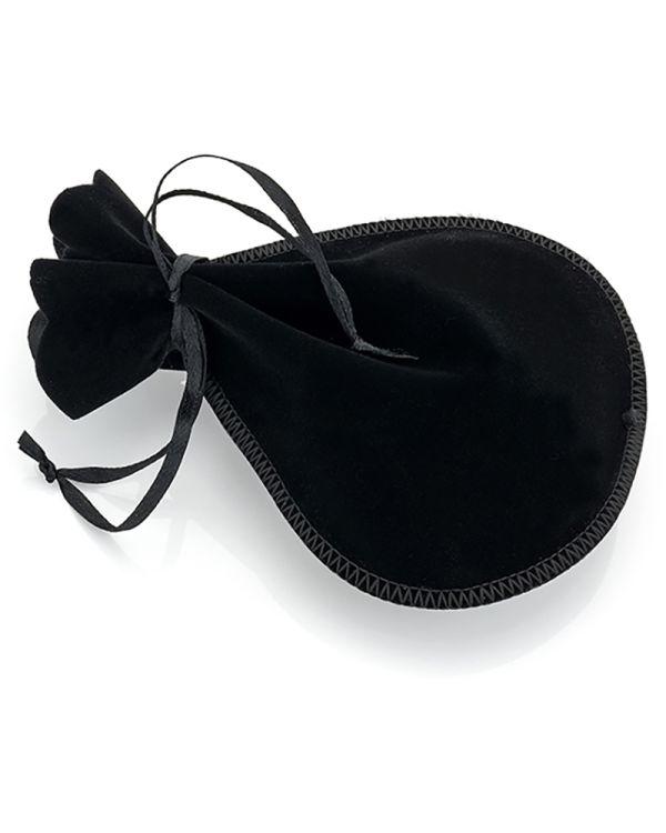 Black Velvet Ribbon Drawstring Pouch