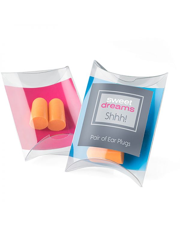 Pair Of Orange Ear Plugs In A Pillow Pack
