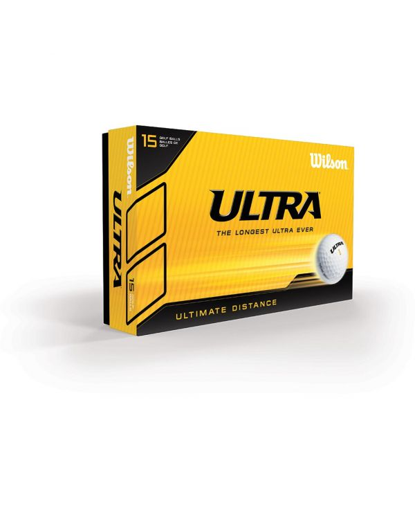 Wilson Staff Ultra Lue Distance (White Or Yellow) Printed Golf Balls