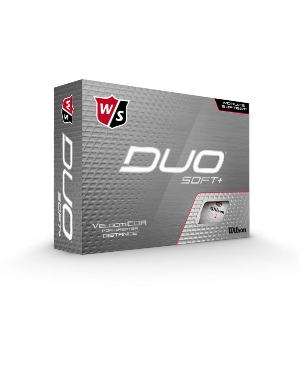 Wilson Staff Duo Soft+ White Printed Golf Balls