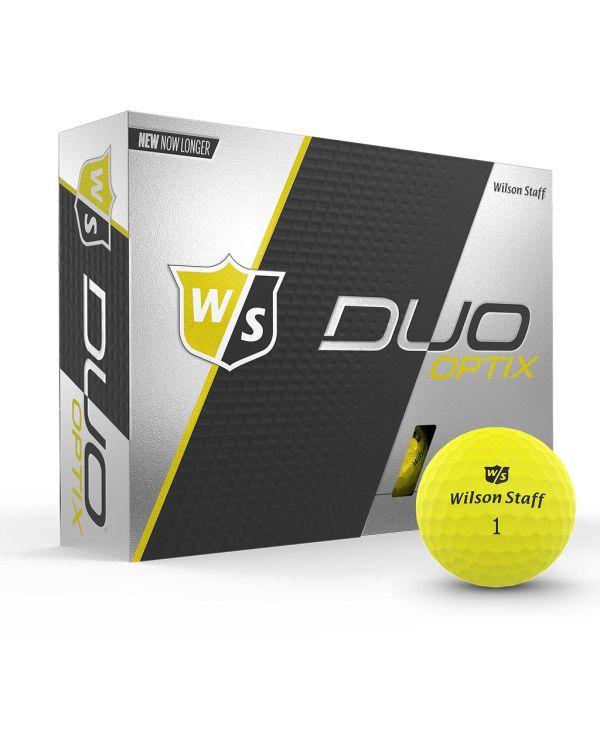 Wilson Staff Duo Optix (Yellow, Orange, Green, Red Or Pink) Printed Golf Balls