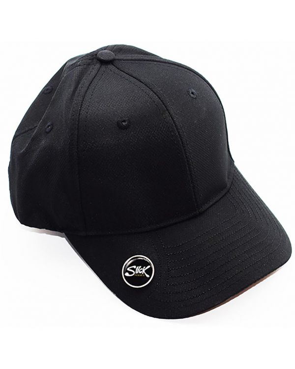 Golf Cap 6 Panel Polyester With Ball Marker To The Peak