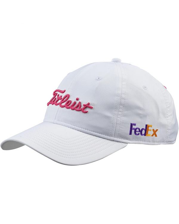 Titleist Women's Performance Golf Cap In White With Your Logo To 1 Side