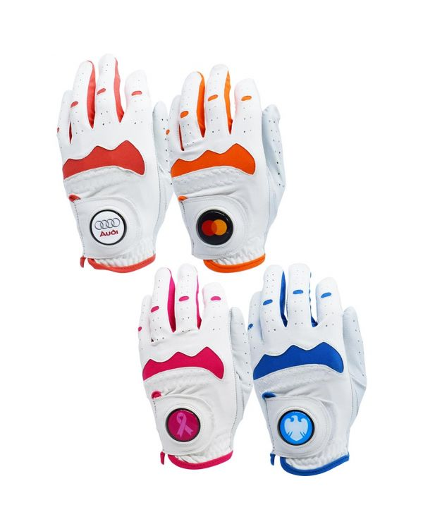Hybrid Golf Glove With Your Logo On The 30mm Ball Marker