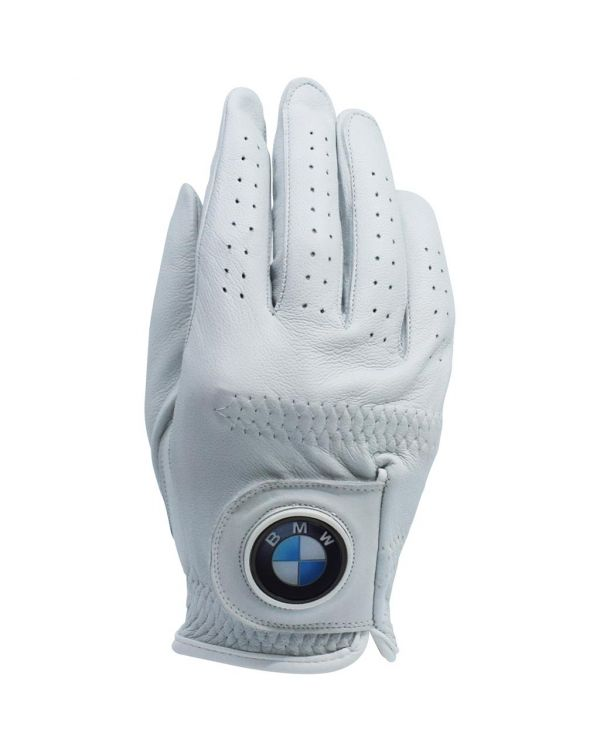 Pearl Cabretta Leather Golf Glove With Your Logo On The 30mm Ball Marker