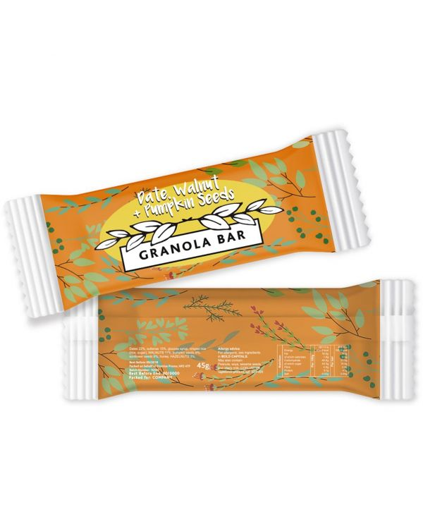 Paper Flow Bag - Date, Walnut & Pumpkin Seeds - Granola Bar