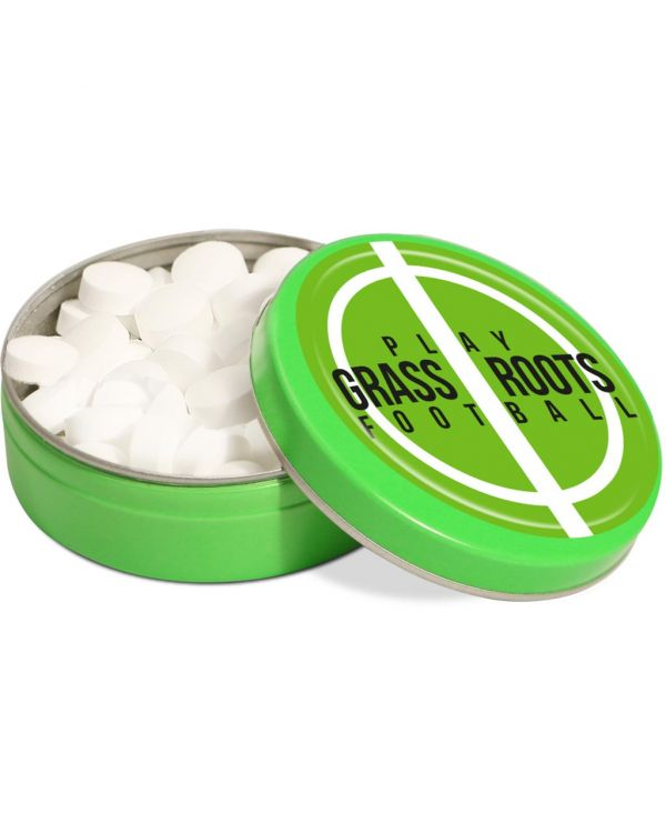 XS Peppermint Tin - Green - Dome Label