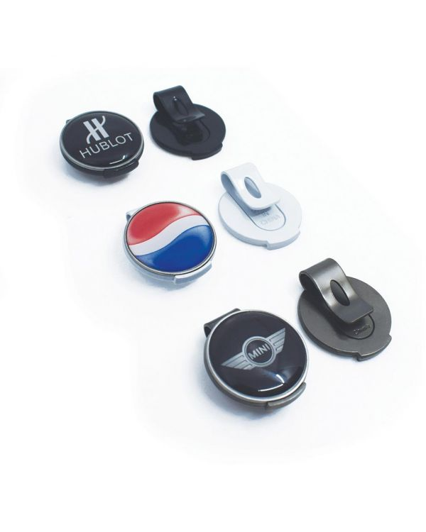 Geo Golf Cap Clip With 25mm Removable Ball Marker