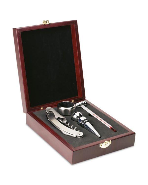 Premium Classic Wine Set In Wooden Box