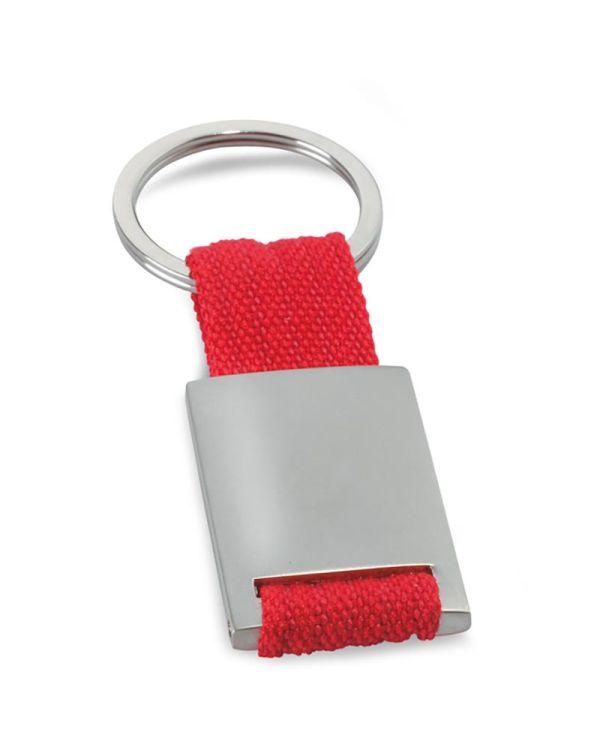 Tech Metal Rectangular Key Ring
