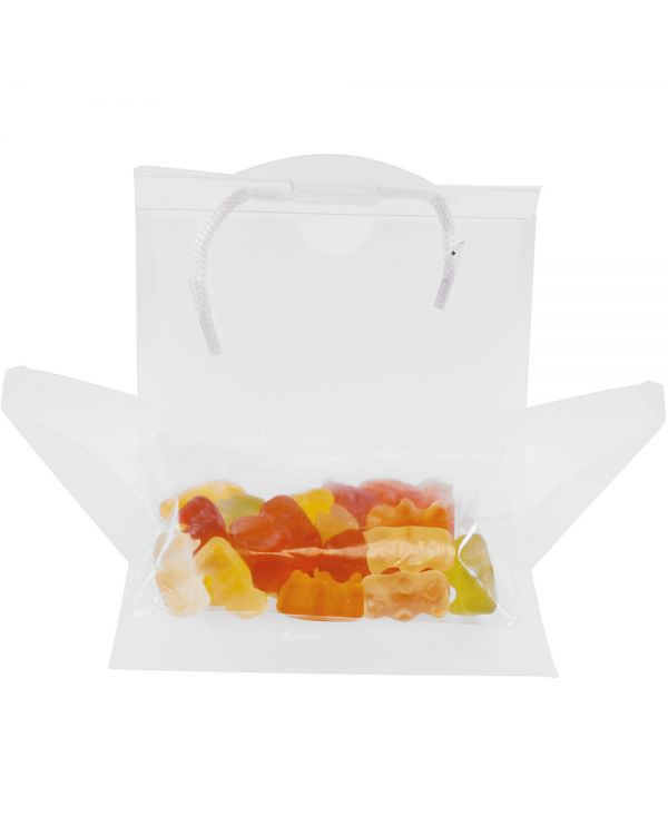 PVC Bag With Business Card Pocket And Haribo Gummies