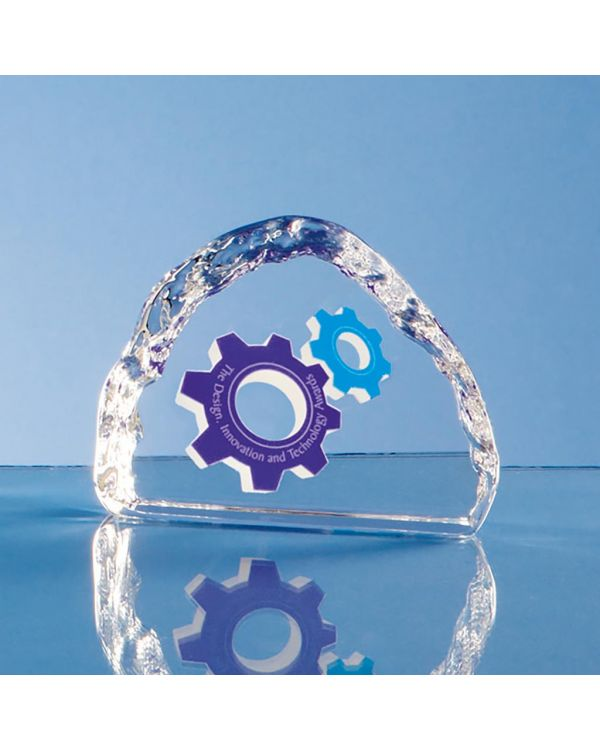 9.5cm Optical Crystal Ice Block Paperweight