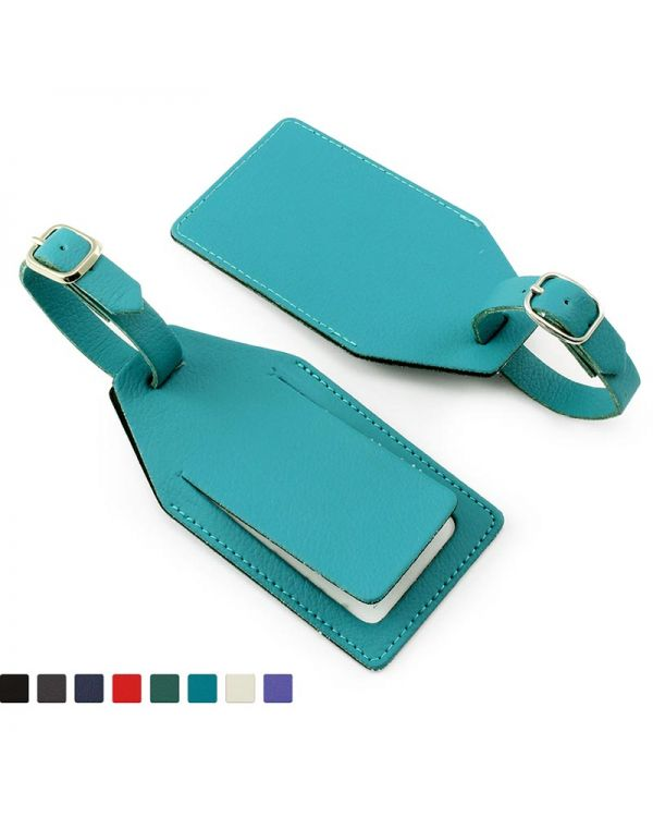 Recycled Eleather Rectangular Luggage Tag With Security Flap