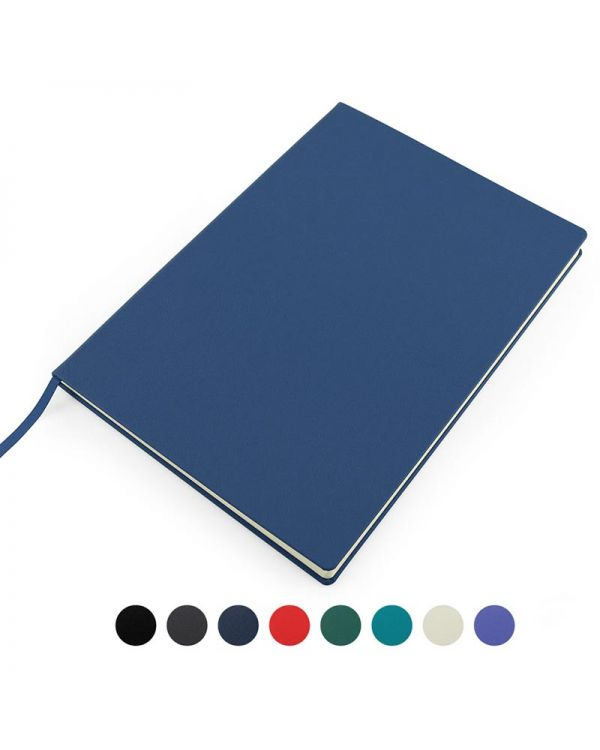 Recycled Eleather A4 Casebound Notebook