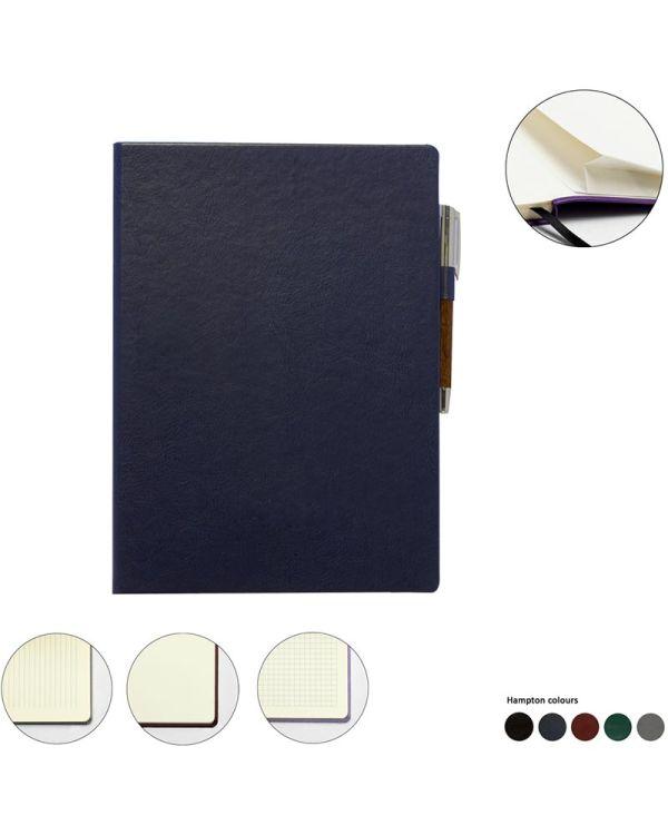 Hampton Leather A4 Casebound Notebook