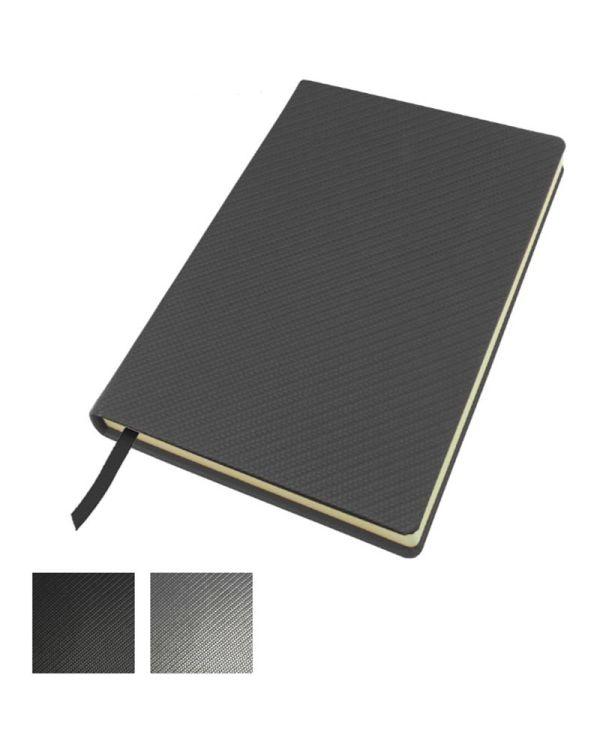 Carbon Fibre Textured A5 Casebound Notebook