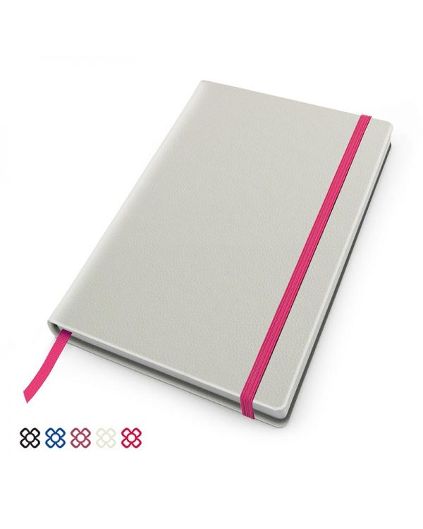 Recycled Como A5 Casebound Notebook With Elastic Strap