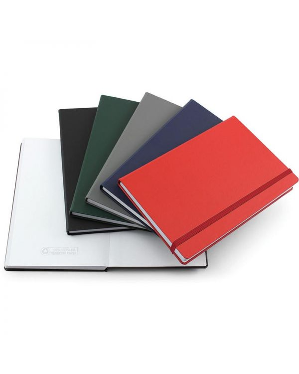 Recyco 99% Recycled A5 Casebound Notebook With Elastic Strap