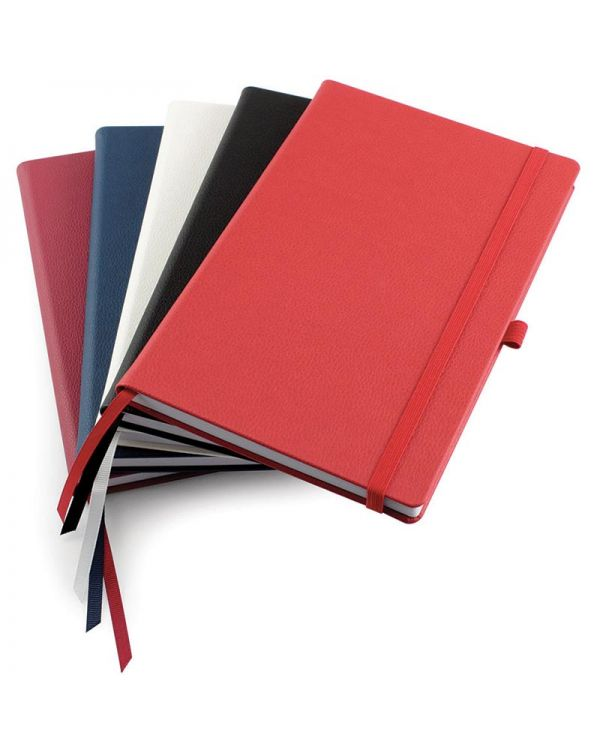 Recycled Como A5 Casebound Notebook With Elastic Strap & Pen Loop