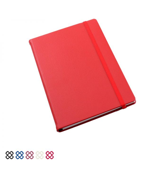 Recycled Como Pocket Casebound Notebook With Elastic Strap