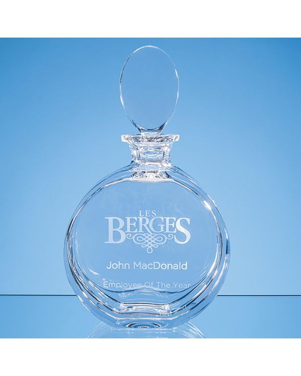 0.65ltr Lead Crystal Elena Round Spirit Decanter