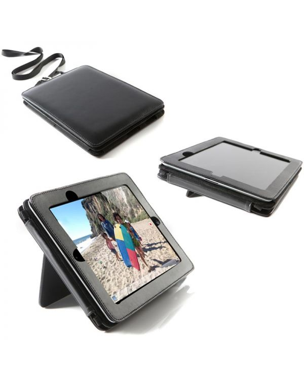 Executive Nappa Leather iPad Case with Stand