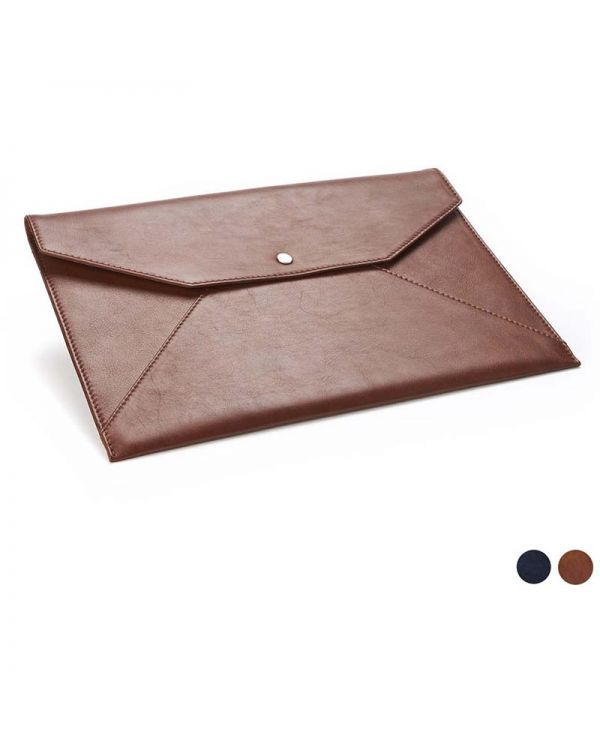 Accent Sandringham Leather Under Arm Folio / Laptop Case With Press Stud To Close