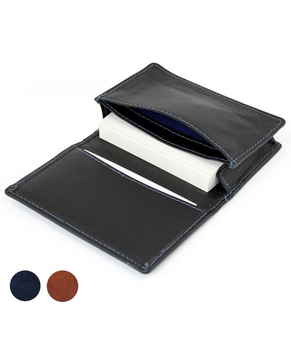 Accent Sandringham Nappa Leather Business Card Case